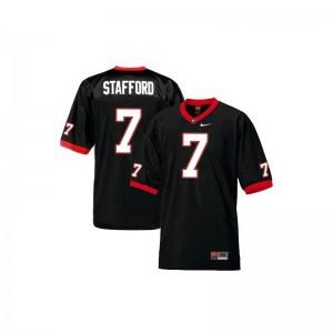 S-XL UGA Matthew Stafford Jerseys Youth(Kids) Game Black Jerseys