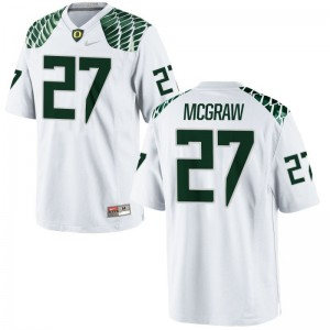 Mattrell McGraw Jerseys University of Oregon White Game Men College Jerseys