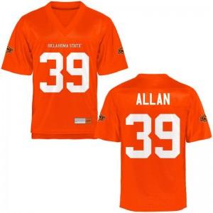 Max Allan Youth Orange Jersey S-XL Game OK State