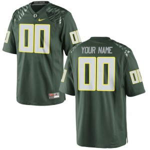 Limited Mens Green Oregon College Custom Jersey of