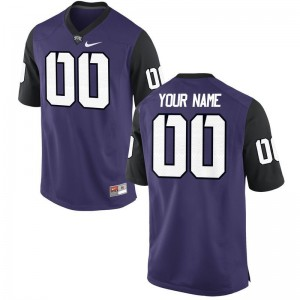 TCU Horned Frogs Customized Jerseys Mens Limited - Purple