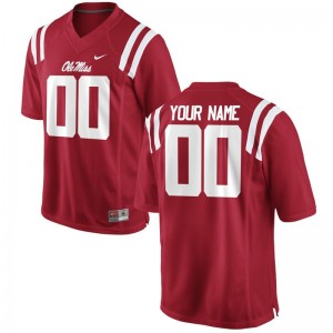 Men Red Customized Jersey University of Mississippi Limited