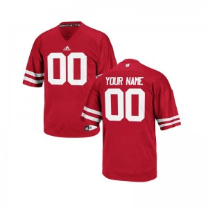 For Men Customized Jerseys Wisconsin Limited - Red