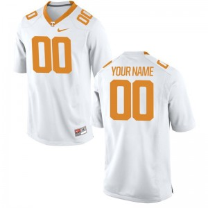 Mens Custom Jersey College White Limited Tennessee Volunteers Custom Jersey