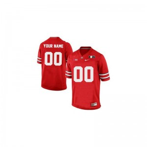 Ohio State Limited Mens Custom Jerseys - Red 2015 Patch