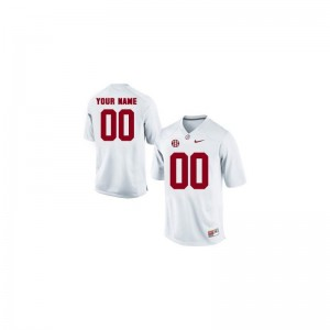 Men College Customized Jerseys White Limited Alabama Crimson Tide