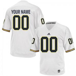 Men Customized Jerseys White Limited Michigan Wolverines Customized Jerseys