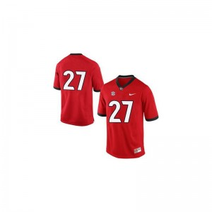 Georgia Player Jersey of Nick Chubb Men #27 Red Game