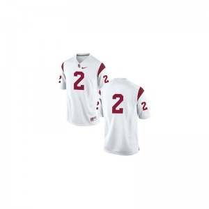 USC Trojans Robert Woods Game For Men #2 White High School Jersey