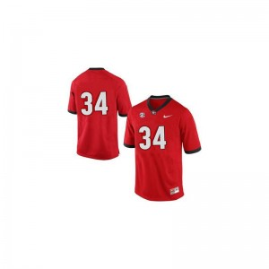Men #34 Red Game UGA Alumni Jersey Herschel Walker