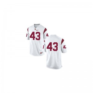USC Trojans Player Jersey Troy Polamalu #43 White Limited For Men