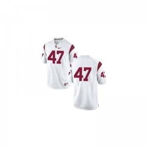 Mens #47 White Game USC Trojans Jersey of Clay Matthews