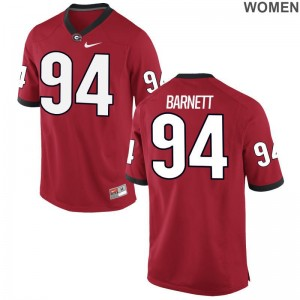 Georgia Bulldogs Jerseys Michael Barnett Game Womens - Red
