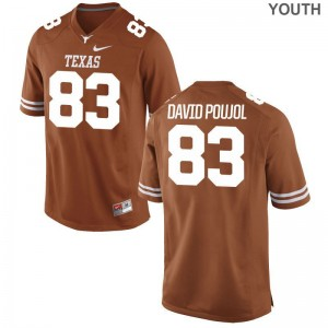 Game Youth(Kids) Orange UT Football Jersey of Michael David Poujol
