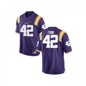 LSU Tigers Michael Ford College Jerseys Game Purple Men
