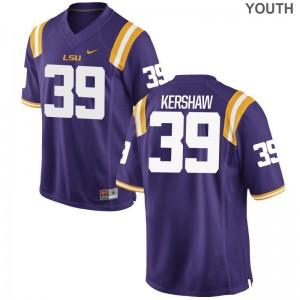 LSU Football Jersey Michael Kershaw Game Youth(Kids) - Purple