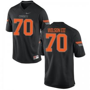 Michael Wilson III Jerseys OK State Black Game Mens Jerseys