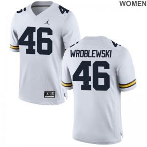 Michigan Wolverines Michael Wroblewski Women Jordan White Limited Alumni Jerseys