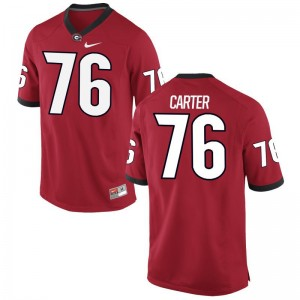 UGA Michail Carter Football Jersey Red Game Mens