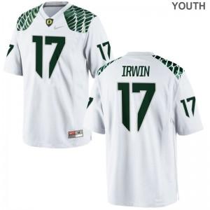 Youth Mike Irwin Jerseys University of Oregon Game White
