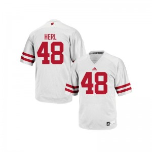 Mitchell Herl Wisconsin Badgers Jerseys Youth White Authentic Jerseys