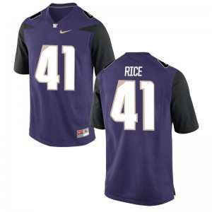 University of Washington Myles Rice Game Mens Jerseys - Purple