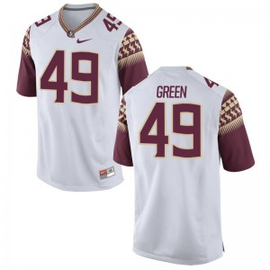 N'Namdi Green Florida State Jerseys S-3XL Game Mens White