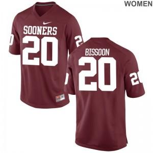 Najee Bissoon Ladies Crimson Jersey Game Oklahoma Sooners