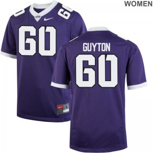 For Women Purple Game Texas Christian High School Jersey Nate Guyton