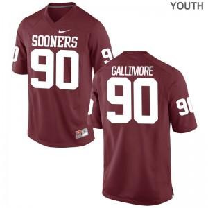 Oklahoma Jersey Neville Gallimore Youth(Kids) Game - Crimson