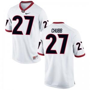 University of Georgia Nick Chubb White Game For Men Jerseys