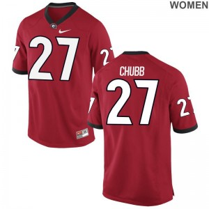 UGA Nick Chubb Jerseys For Women Red Limited
