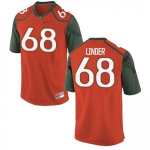 Nick Linder University of Miami Jersey S-XL Youth Limited Jersey S-XL - Orange