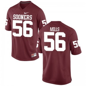 Nick Mills Sooners High School Jerseys Crimson Kids Limited Jerseys