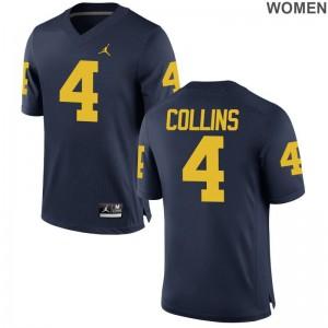 Nico Collins Michigan Wolverines Jerseys S-2XL Game Ladies Jerseys S-2XL - Jordan Navy