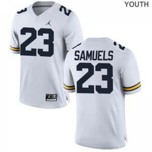 O'Maury Samuels Jersey Michigan Jordan White Game Youth Jersey