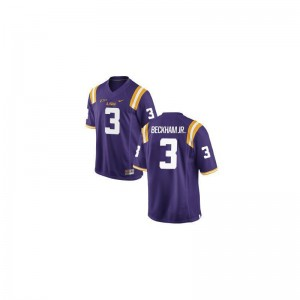 Odell Beckham Jr LSU Tigers High School Jerseys Purple Game Ladies