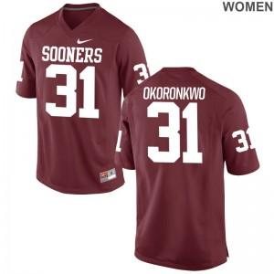 Sooners Ogbonnia Okoronkwo Limited Ladies NCAA Jersey - Crimson