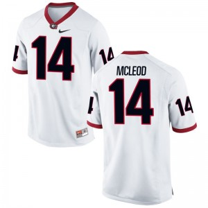 Parker McLeod Kids High School Jersey UGA Bulldogs White Limited