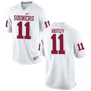 S-3XL Oklahoma Parnell Motley Jerseys Football For Men Game White Jerseys