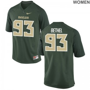 Green Game Pat Bethel Jerseys S-2XL For Women Miami Hurricanes