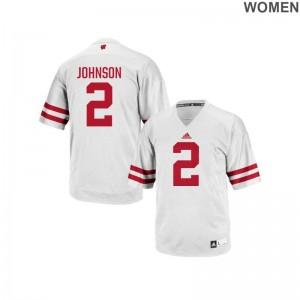 UW Jersey of Patrick Johnson Authentic Women - White