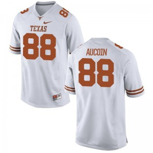 Peyton Aucoin Mens White Jerseys S-3XL Limited Longhorns