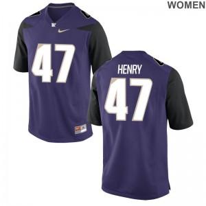 Washington Peyton Henry For Women Purple Game Player Jerseys
