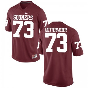 Quinn Mittermeier Sooners For Men Game Football Jerseys - Crimson