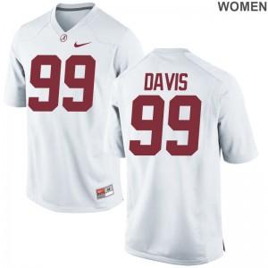 Raekwon Davis Bama Jersey Women White Game Jersey