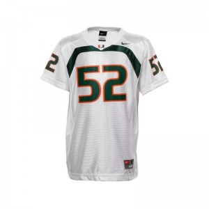 University of Miami Jersey of Ray Lewis Limited White Youth