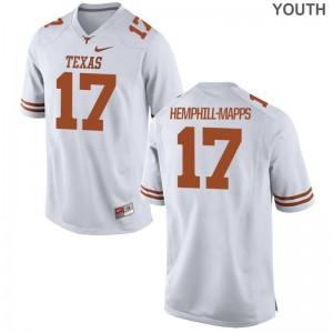 Texas Longhorns Reggie Hemphill-Mapps White Limited Youth Jersey