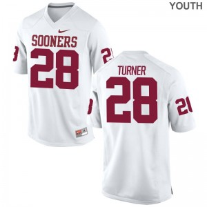 Oklahoma Sooners Jersey of Reggie Turner Youth Limited - White