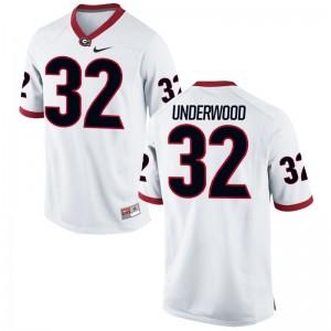 Limited White For Men Georgia Alumni Jersey of Ridge Underwood